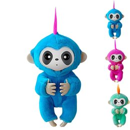 Discount smart clothing - Fi-719 happy monkey pack Finger baby Monkey Rose Interactive Baby Pet Intelligent Toy Tip Smart Pet Clothe