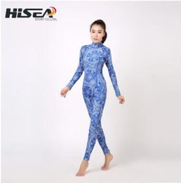 3mm Warm White Australia - 3mm diving suit female national blue and white porcelain thick warm warm sunscreen wetsuit piece long sleeve trousers