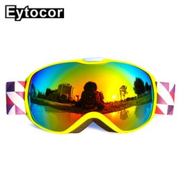 Girls Ski Goggles Australia - EYTOCOR Professional UV400 Protection Children Skiing Snowboard Goggles Kids Winter Skiing Eyewear Boys Girls Snowboard