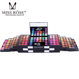 Chinese  Miss Rose Brand Make Up Cosmetic Box Waterproof Shimmer Mineral Powder 144 Color Eyeshadow Blush Professional Full Makeup Kit manufacturers