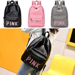 sequin bag clothing 2019 - Pink Letter Sequins Backpack Storage Bags Child Backpack PU Waterproof Travel Double Shoulders Backpacks School Bag WX9-