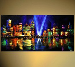 $enCountryForm.capitalKeyWord NZ - 100% hand-painted good quality new york city canvas painting palette knife textured oil painting discount wall decor canvas wall art fine ar