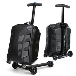 $enCountryForm.capitalKeyWord Canada - New Design Skateboard Luggage Bag Men Women Suitcase With Wheels Scooter Carry on Rolling Luggage Travel Trolley Box