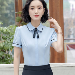5905145e79f New Styles Formal OL Styles Women Business Work Wear Blouses   Shirts For  Ladies Office Female Tops Clothes Uniforms Plus Size