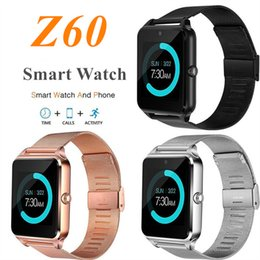 Luxury watches for kids online shopping - Z60 Smart Watch with Luxury Stainless Steel Support SIM and TF Card Bluetooth Smartwatch Fitness Tracker for IOS Android with Retail Box