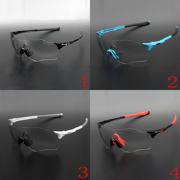 Adult Red Blue Glasses NZ - EVZERO PATH OO9313 Sunglasses Outdoor Sport Cylcing Eyewear Photochromic Sunglasses White Blue Red Black Unisex Glass