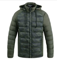 light green pearls UK - Men's light warm fashion casual men's padded coat thickened padded coat