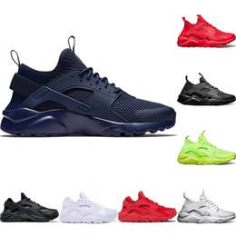super popular 58e7f 03fed Designer Huarache 4 Turnschuhe Sneaker Laufschuhe Triple S Weiß Schwarz Rot  Grün 2018 Günstige Huaraches Herren Damen Sport Sneakers Größe 36-45