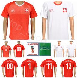 Discount making jerseys - Men Switzerland Soccer Jersey 11 BEHRAMI 14 ZUBER 13 RODRIGUEZ 1 SOMMER Football Shirt Kits Goalkeeper 22 SCHAR Make Cus