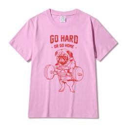 Pug Print Shirt Canada - Hot Sale Fashion Pug Squat Exercise Hard Design Men's Creative Printed T-shirt Short Sleeve Male Funny Tops Hipster Casual Tee