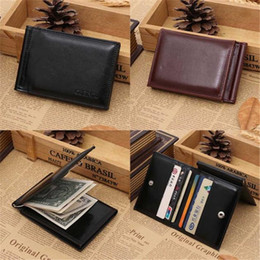 Easy card wallEt online shopping - Men Leather Card Cash Receipt Holder Organizer Bifold Wallet Purse Purse wallet men wallets easy to carry