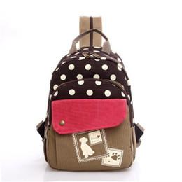 $enCountryForm.capitalKeyWord Canada - New Casual Woman Backpack Fashion Backpack For Girl School Bag Casual Polka Dot College Wind Bag Backpack For Girl