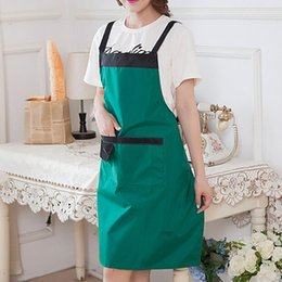 $enCountryForm.capitalKeyWord Australia - Hot Sale Ladies Restaurant Kitchen Aprons Waterproof Sleeveless Apron Cooking Apron with Pockets for Women Cleaning Tools
