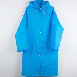 Neuer im Freien blauer mit Kapuze einteiliger erwachsener Regenmantel, der kundenspezifischen wasserdichten regenfesten Regenmantel verarbeitet