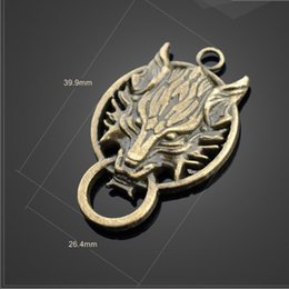 $enCountryForm.capitalKeyWord NZ - High Quality 2 PCS Lot 26.4mm*39,9mm Metal Diy Jewelry Charms Antique Bronze Wolf Head Charms For Jewelry Making Jewelry making wholesale