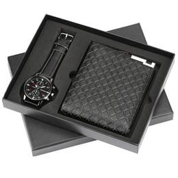 Top Brand Luxury Mens Watch Quartz Wristwatches Wallet Gift Set For Boyfriend Business Fashion Watches Best Birthday NZ2865