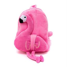 Wholesale 3 Colors Cute Cartoon Flamingo Plush Backpack for kids Plush Flamingo School Bag Children s Gifts Toy Doll Novelty Items CCA10481