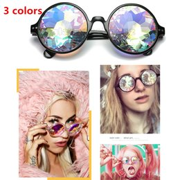 color style glasses NZ - New Sunglasses For Women Party Dance Dress Cool Sunglasses Fashion Retro Glass Lens Psychedelic Sunglasses 12 Color Style