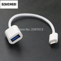 Otg line usb adapter cable online shopping - SZAICHGSI white Type C To USB Female OTG Cable Adapter Type C Data Cord Connector For Macbook Line