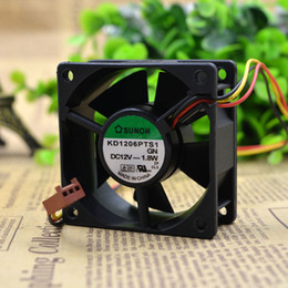fan powered Canada - For New Construction Standard 6025 12V 6CM KD1206PTS1 Inverter Power Supply Cooling Equipment Fan