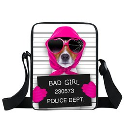 $enCountryForm.capitalKeyWord Canada - Graffiti Puppy Bao Bao Women Handbags 2017 Bad Dog Small Messenger Bag Boston Terrier Crossbody Bags Pet Boys Girls School Bag