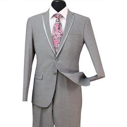 China New Arrival Cheap Slim Fit Groom Tuxedos Groomsmen Light Grey Side Vent Wedding Best Man Suit Men's Suits 3 Pieces (Jacket+Vest+Pants) ST008 cheap cheap wedding vests suppliers