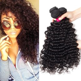 Cambodian loose Curly hair online shopping - 8A Remy Peruvian Indian Malaysian Cambodian Brazilian Virgin Hair Weave Bundles Straight Body Wave Loose Deep Wave Kinky Curly Human Hair