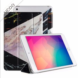 Wholesale Auto Sleep Smart Filp TPU Marble Painted Back Cover for iPad Air mini Pro Opp Aicoo