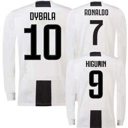 234ca8463 Long sleeve JUV home Soccer Jersey 18 19  7 RONALDO  10 DYBALA Soccer Shirt  2019 MARCHISIO MANDZUKIC PJANIC HIGUAIN Bonucci football Shirts