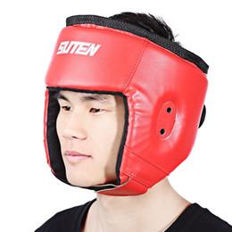 $enCountryForm.capitalKeyWord Australia - Head Guard Boxing Helmet Head Protector For Taekwondo Karate Tai Kickboxing Competition Training Boxing Helmet 2Colors
