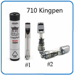 Top sTickers online shopping - Top Quality A3 Cartridges With KP logo Kingpen Atomizer Vape pen ml Dual Cotton Ceramic Coil With Sticker