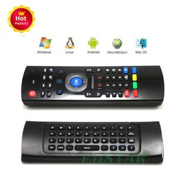 5cd9283440f 2.4GHz Fly Mouse MX3 3d somatosensory IR Learning Qwerty Mini Keyboard  Wireless Remote Controller 6-Axis Gyroscope Gamepad for Android Box