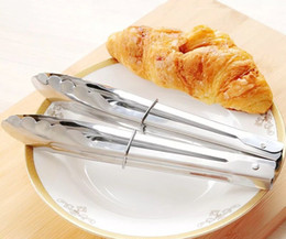 restaurant foods 2019 - Stainless Steel Kitchen Salad Fruits Bread BBQ Cooking Foods Tongs Serving Utensil Barbecue Grill Restaurant Clips Tools