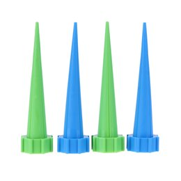 Hose Reel Irrigation UK - 4Pcs Automatic Watering Irrigation Houseplant Spikes Garden Cone Watering Spike Plant Potted Flower Waterers Bottle Irrigation