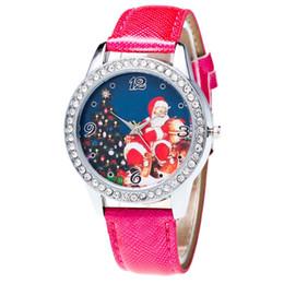 $enCountryForm.capitalKeyWord UK - reloj couple watch Christmas Pattern Rhinestone Dial Faux Leather Strap Couples Analog Quartz Wristwatch watch men
