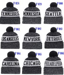e8a83940e 2018 New Arrival Beanies Hats American Football 32 Teams Beanies Sports  Winter Gray Side Line Knit Caps Beanie Pom Pom Knitted Hats