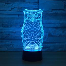 $enCountryForm.capitalKeyWord Australia - Lovely Owl 3D Optical Illusion Lamp Night Light DC 5V USB Powered 5th Battery Wholesale Dropshipping Free Shippin