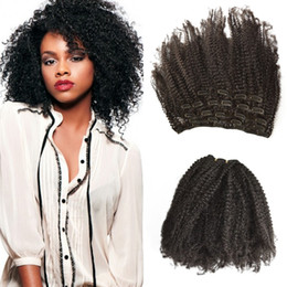 $enCountryForm.capitalKeyWord NZ - Peruvian Huamn Hair 7pcs set Afro Kinky Curly Clip In Human Hair Extensions Wholesale Cheap For Black Women FDSHINE HAIR