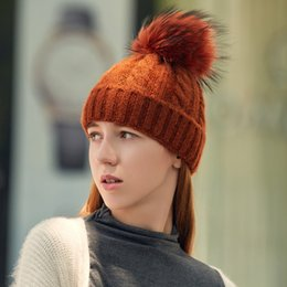 Braiding Hair Cap NZ - Hat Ladies Autumn And Winter Braid Hair Ball Detachable Wool Hat Twist Knitting Cap Warm Headgear Hats