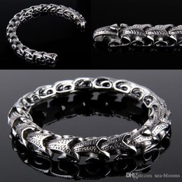 Bangle Silver Dragon Australia - Fashion Snake Bangle Bracelet Personalized Sliver 20CM 22CM Long Dragon Bone Bracelet Men'S Wristband Party Jewelry G824R