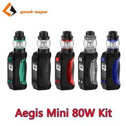 Kits electronic cigarette mods online shopping - GeekVape Aegis Mini Kit with W Aegis Mini Mod Cerberus Tank Super Mesh Coil Authentic Electronic Cigarette Waterproof Dustproof Kits