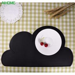 Kitchen Place Mats Australia - NEW Cloud Shape Silicone Insulation Pad Kitchen Placemat Kids Dining Table Washable Portable Place Mat