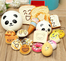 $enCountryForm.capitalKeyWord NZ - Kawaii Squishy Rilakkuma Donut Soft Squishies Cute Phone Straps Bag Charms Slow Rising Squishies Jumbo Buns Phone Charms Free DHL
