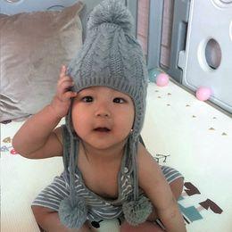 $enCountryForm.capitalKeyWord NZ - Children Winter Warm Knitted Hat Beanie Kids Braids Hat Child Cute Ear Cap AN88