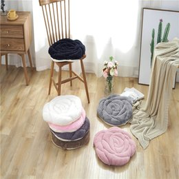 cotton floor mats NZ - 45*45cm Japanese Style Pink Plush Rose Cushion Chair Seat Cushion Tatami Mats Warm Floor Cushion Pad Car Mat Chair