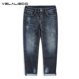 39ddc5e7e0e VELALISCIO Jeans Men Plus Fat To Increase The Code High Elastic Feet Jeans  Men s Youth Tide Brand winter Pants