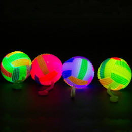 $enCountryForm.capitalKeyWord NZ - Colorful Light-Up Volleyball Bouncing Ball With String Flashing Squeeze Massage Ball Toys Birthday Glow Party Supplies