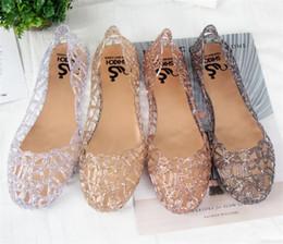Опт новое прибытие плоским хрустальные желе обувь мелиссы женщины вырезы сандалии флип-флоп 4 цвета Y153