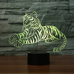 $enCountryForm.capitalKeyWord NZ - 3D Glow LED Night Light Tiger Inspiration 7 Colors Optical Illusion Lamp Touch Sensor for Home Party Festival Decor Great Gift Idea