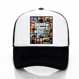 $enCountryForm.capitalKeyWord UK - Grand Theft Auto V 5 GTA 5 Baseball caps Hot Game GTA 5 Fans Cap Summer Mesh Net Trucker Caps Hat